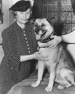 Helen Keller – Amerikan Akita ile